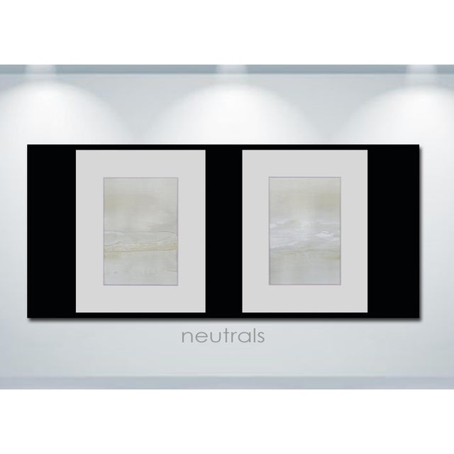 Modern Neutral Textured Art Diptych Paintings - Set of 2 - Image 4 of 6