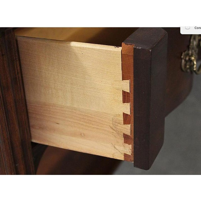 Cherrywood & Brass Two-Tier Sofa Table - Image 6 of 7