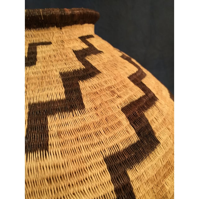 Organic Colombian Werregue Round Woven Basket - Image 6 of 7