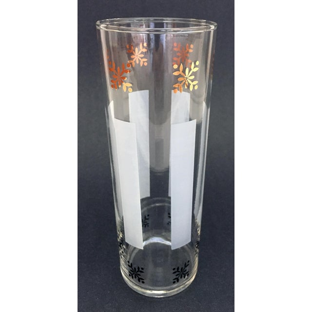 1950s 1950s Federal Style Gold Detailed Highball Glasses - Set of 10 For Sale - Image 5 of 6
