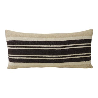 Vintage African Woven Tribal Artisanal Textile Decorative Long Bolster Pillow For Sale