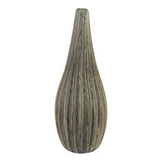 21st Century Vintage Textured Ceramic Teardrop Bud Vase by Tozai Home For Sale