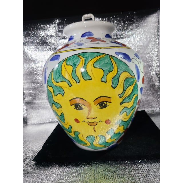 Vintage Sunburst Ceramic Ginger Jar For Sale - Image 10 of 10