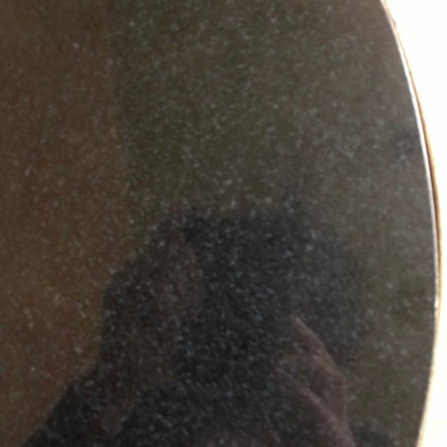 Granite Horchow Gold Tassel Ebony Granite Side Table For Sale - Image 7 of 12