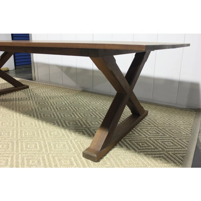 Traditional Custom X Base Dining Table For Sale - Image 3 of 10