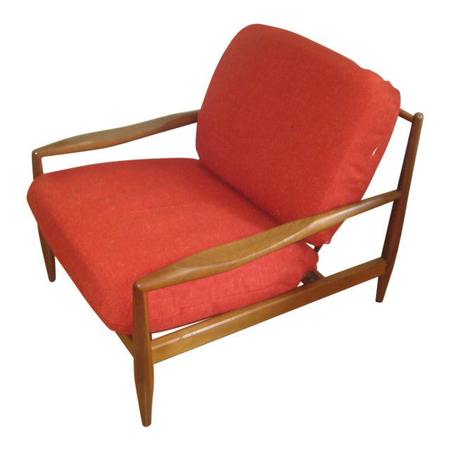 Mid-Century Danish Modern Lounge Chair For Sale