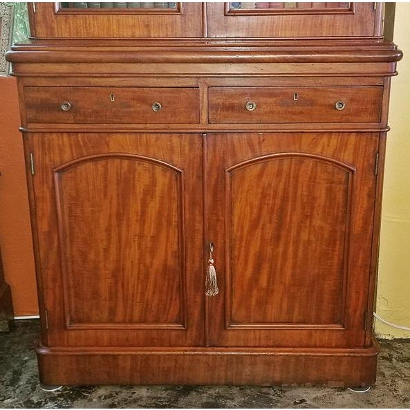19th Century British William IV Mahogany Bookcase of Neat Proportions For Sale - Image 4 of 10