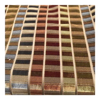 Contemporary Multi-Colored Velvet Fabric - 1.5 Yards For Sale