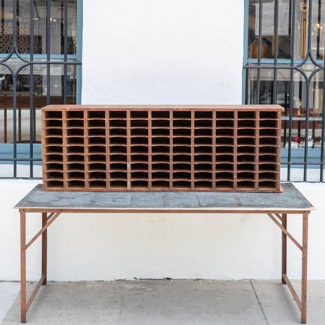 Lovely Vintage Postal Sorter! This is the perfect piece for orginizing! Can sit vertical ot horizontal!