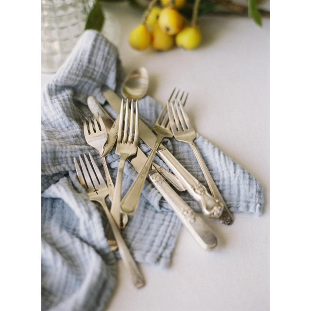 Contemporary Tuscan Organic Cotton Napkins - Set of 6 For Sale - Image 3 of 5