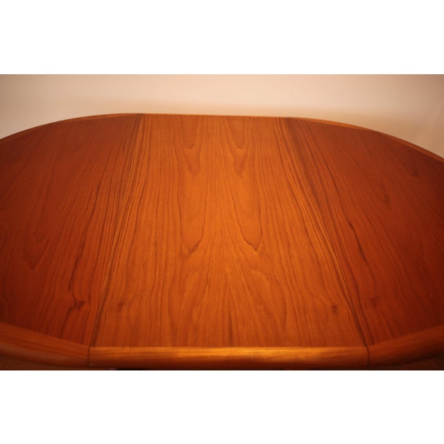 Solid Teak Round to Oval Dining Table - Image 8 of 10