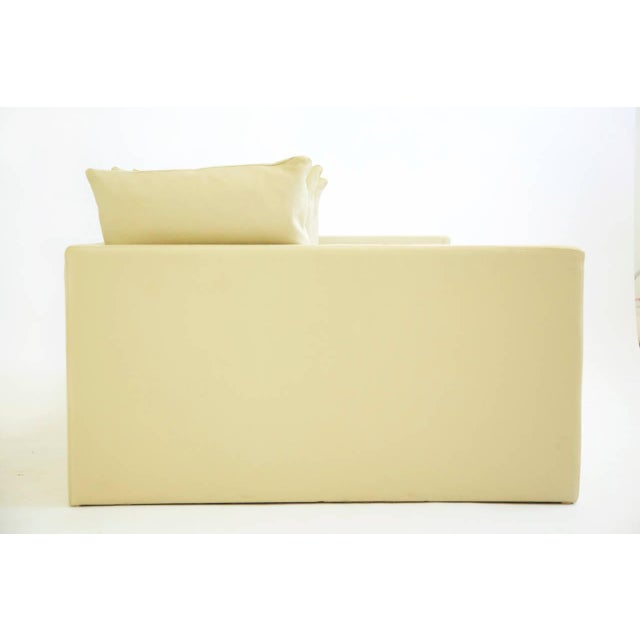 Leather 1980s Knoll / Joe d'Urso Linear Sofa in Leather For Sale - Image 7 of 11