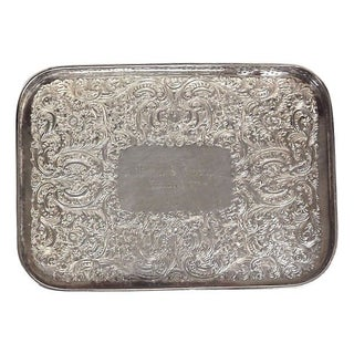 Vintage Silverplate Acanthus Leaf Tray