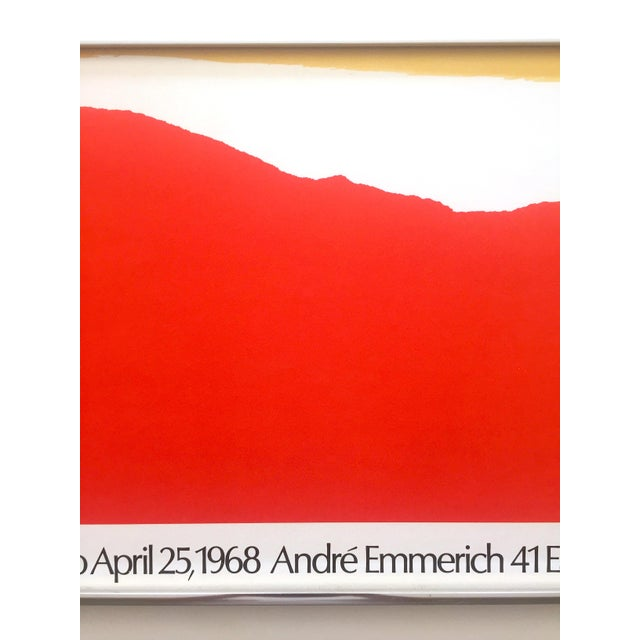 Helen Frankenthaler Rare 1974 Mid Century Modern Abstract Expressionist Lithograph Print Framed Exhibition Poster For Sale In Kansas City - Image 6 of 13
