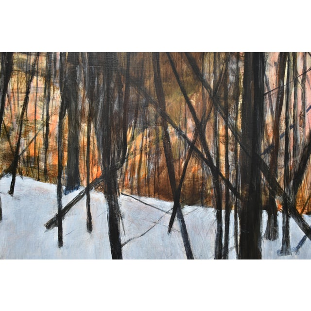 """Stephen Remick """"Sunrise in the Snowy Woods"""" Painting For Sale - Image 9 of 13"""