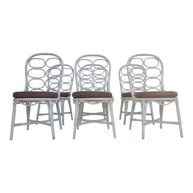 Franco Albini Inspired Rattan Dining Chairs - Set Of 6 - Image 1 of 11