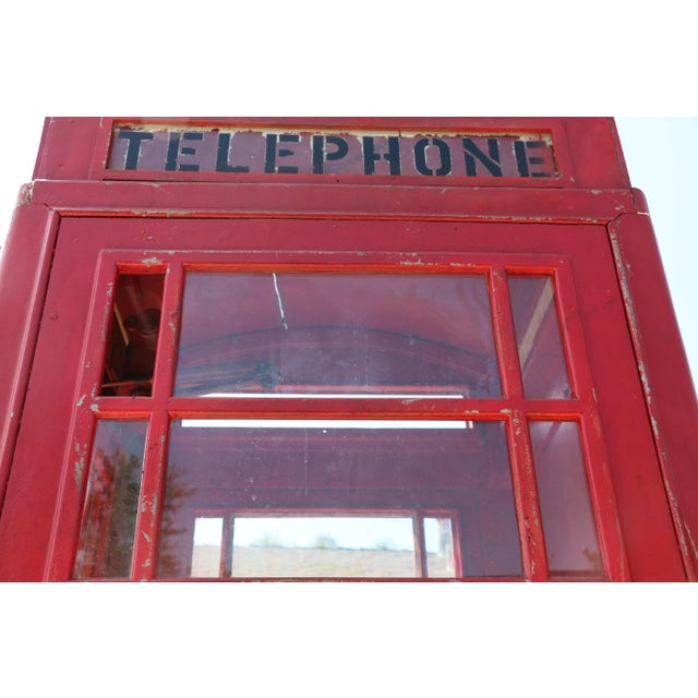 Metal Vintage London Lifesize Telephone Booth For Sale - Image 12 of 13
