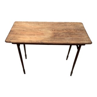 Mid 19th Century Civil War Military Field Officers Folding Map Table For Sale