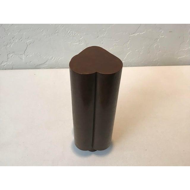 "1983 Gerald Walburg Bronze ""Hearts"" Sculpture For Sale - Image 4 of 8"