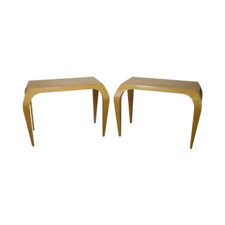 Studio Crafted Birdseye Maple Art Deco Style Console Tables - A Pair For Sale