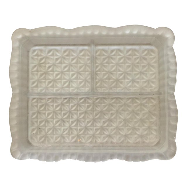 Separated Smoked Glass Serving Dish - Image 1 of 5