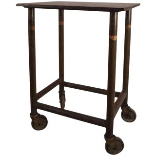 Industrial Iron Turtle Stand on Wheels For Sale