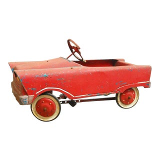 Vintage American Murray Red Child's Roadster Pedal Car For Sale