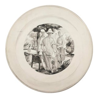 1940 William Palmer Golf Watercolor 9th Tee For Sale