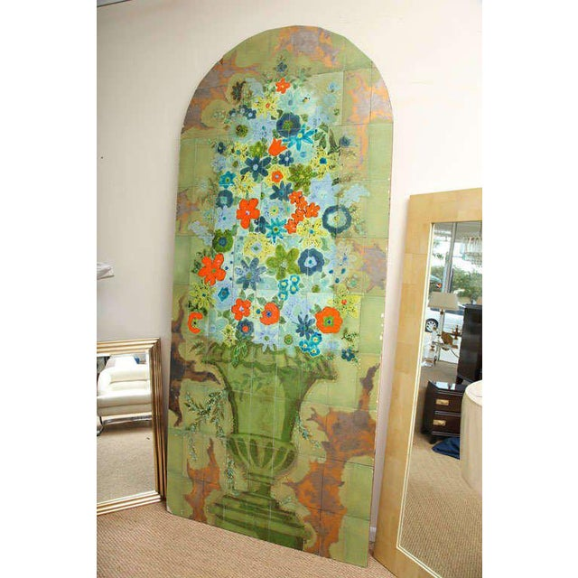 1960s Italian Hand-Painted Tile Panel from the Lobby of the Hilton Plaza, Miami Beach For Sale - Image 5 of 10