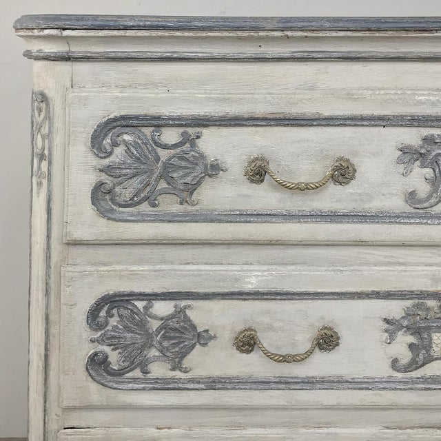 Gold 19th Century Country French Regence Painted Commode For Sale - Image 8 of 13