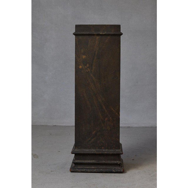 Beautiful 19th century Swedish hand-painted pedestal, with original faux marbleized paint pattern and great patina, circa...