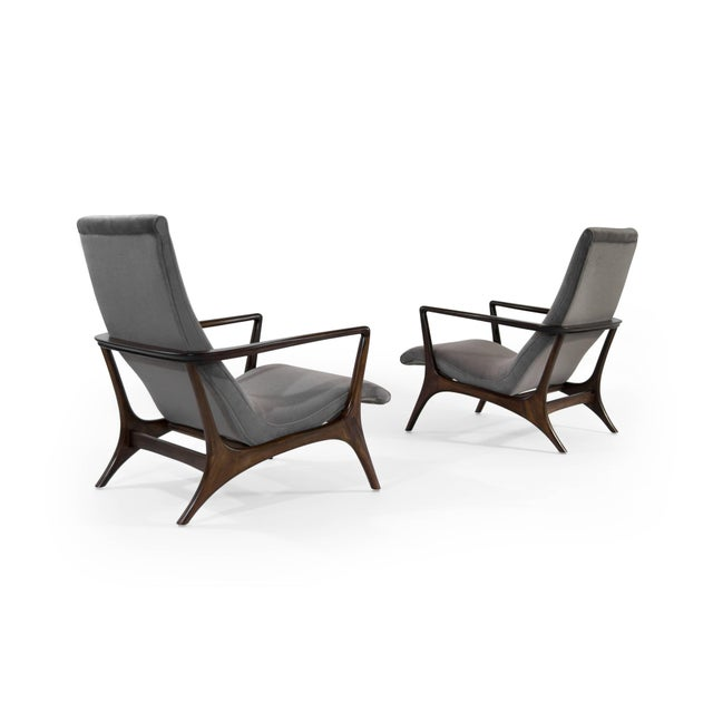 Contour Lounge Chairs, Attr. To Vladimir Kagan For Sale In New York - Image 6 of 12