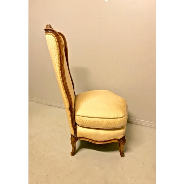 French Louis XV-Stye Slipper Chairs or Chauffeuses - a Pair For Sale - Image 3 of 8