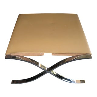 Chrome & Leather Stool