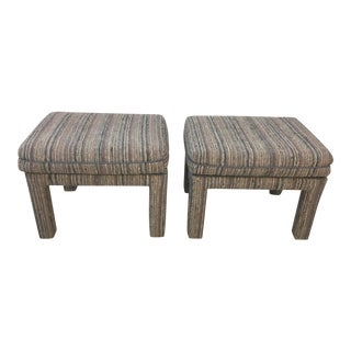Vintage Tweed Ottomans, a Pair For Sale