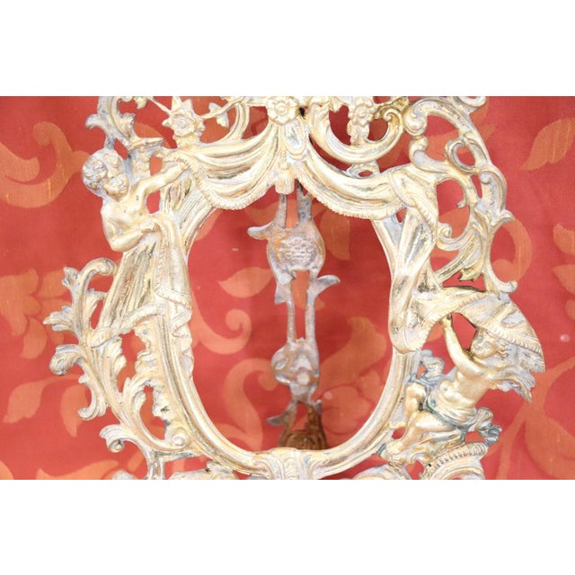 Italian Baroque Style Photo or Picture Frame in Gilded and Chiseled Bronze For Sale - Image 4 of 12