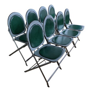 1940s Vintage Folding Chairs - Set of 8 For Sale