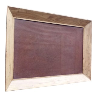 Solid Oak Wormhole Picture Frame