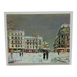 """Mounted, Vintage Color Print, """"Paris"""" by Maurice Wrillo, 1934 For Sale"""