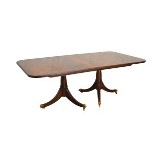 Maitland Smith Flame Mahogany Duncan Phyfe Style Dining Table