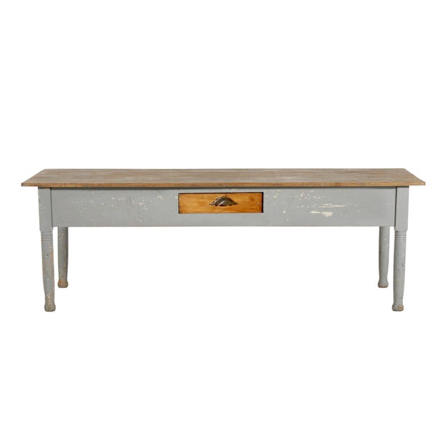Early 20th Century American Farm Table For Sale - Image 11 of 11