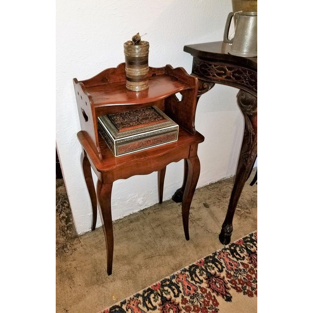 18th Century French Country Cherrywood Side Table For Sale - Image 4 of 10