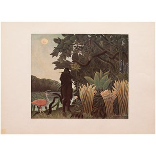 "1940s H. Rousseau, Original ""Snake-Charmer"" Swiss Lithograph For Sale"