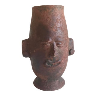 Handcrafted Terra Cotta Vase For Sale