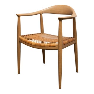 Hans Wegner Jh 501 Armchair With Caned Seat From 1950s For Sale