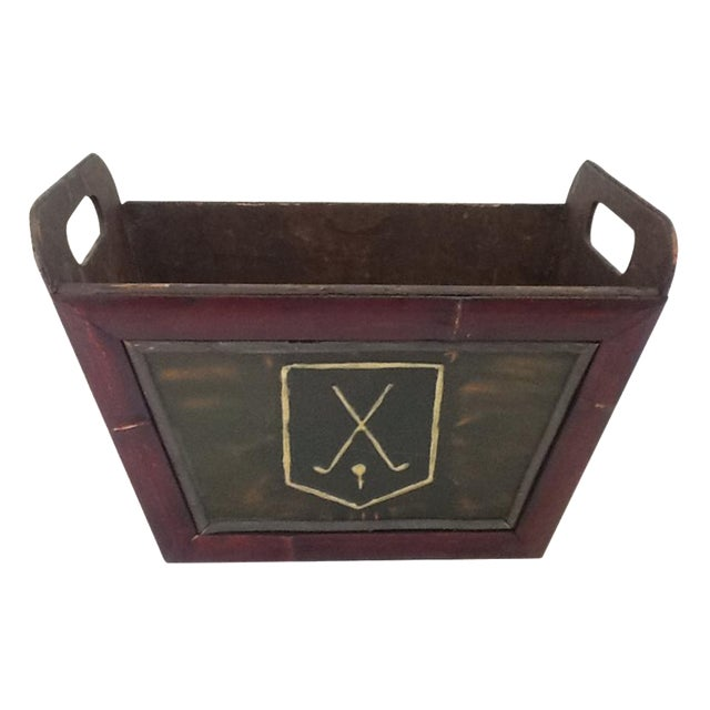 Vintage Golf Motif Box - Image 1 of 8