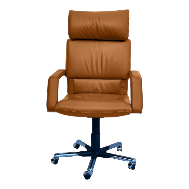Mario Bellini Executive Swivel Chair in Leather For Sale