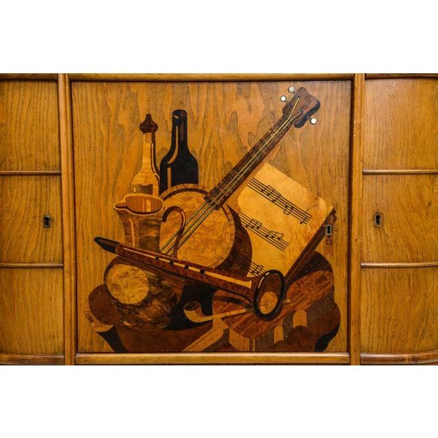 Italian Modern Ash, Walnut, Olivewood, Mahogany Bar Cabinet, Luigi Scremin For Sale In Miami - Image 6 of 8