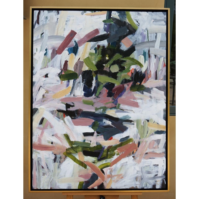 """Canvas Abstract Laurie MacMillan """"Opposites Attract"""" Painting For Sale - Image 7 of 7"""