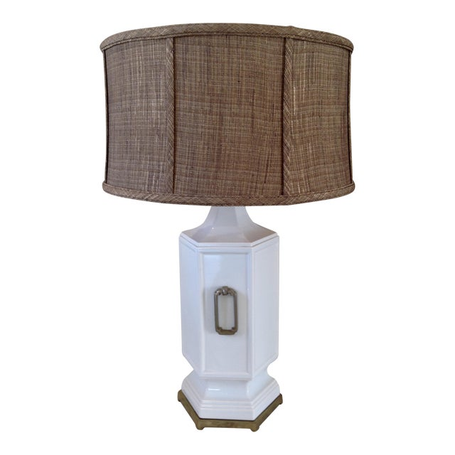 Asian Inspired Mid-Century Table Lamp - Image 1 of 9